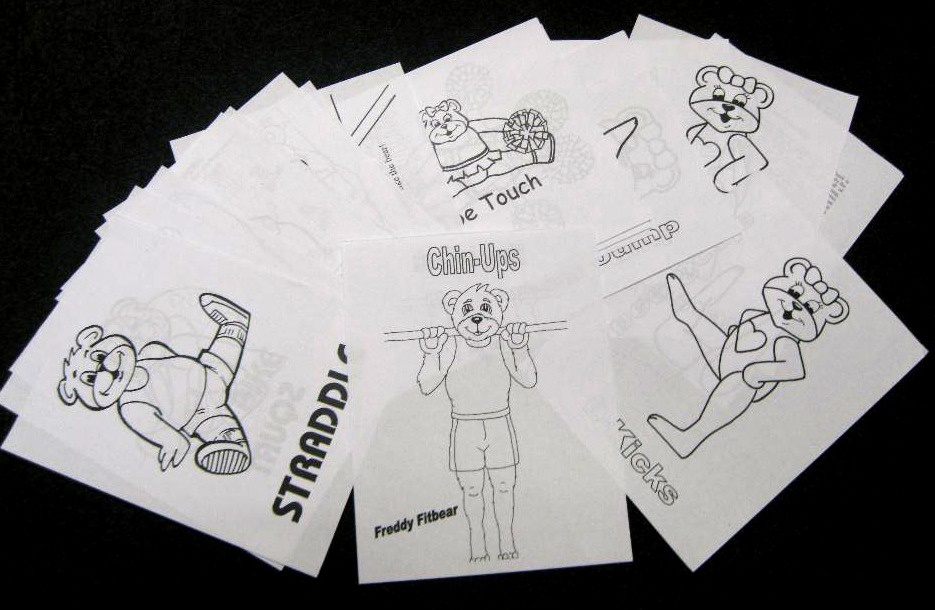 teddy bear gymnastics coloring pages - photo#5
